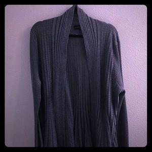 Lane Bryant Gray Open Cardigan Plus Size 18/20